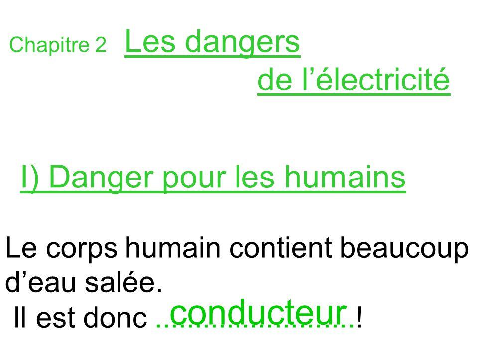 Partie b electricit ppt t l charger for Les dangers de l electricite