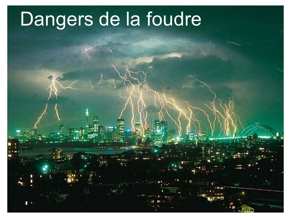 Dangers de la foudre