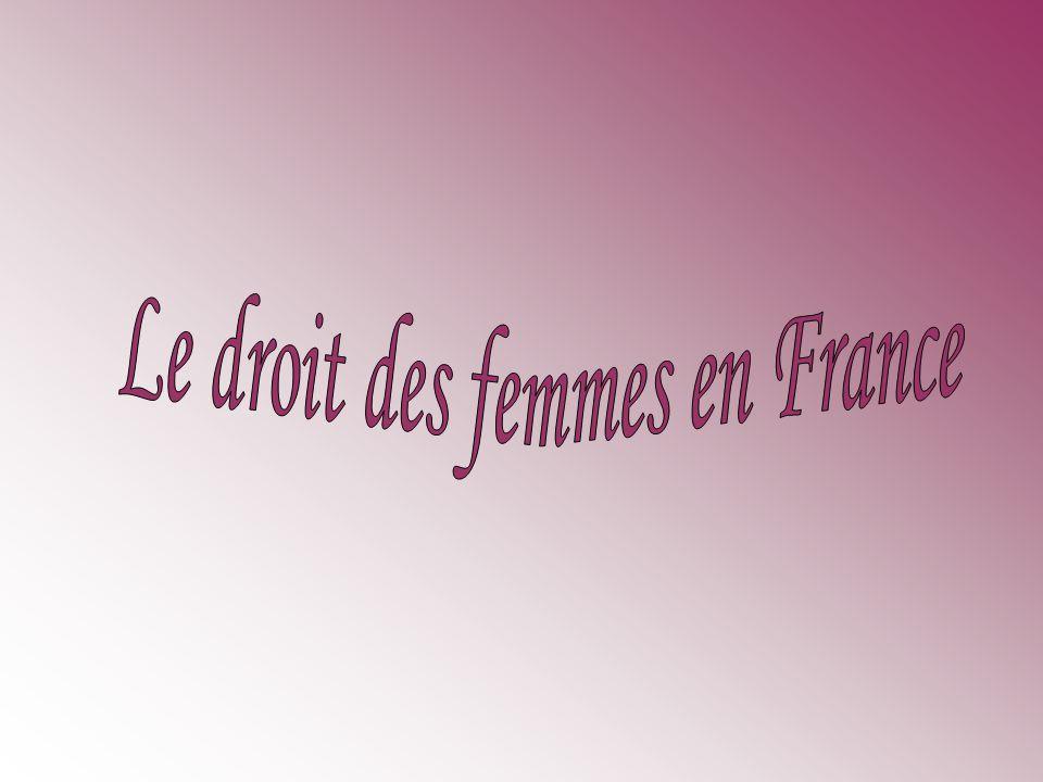 Le droit des femmes en France