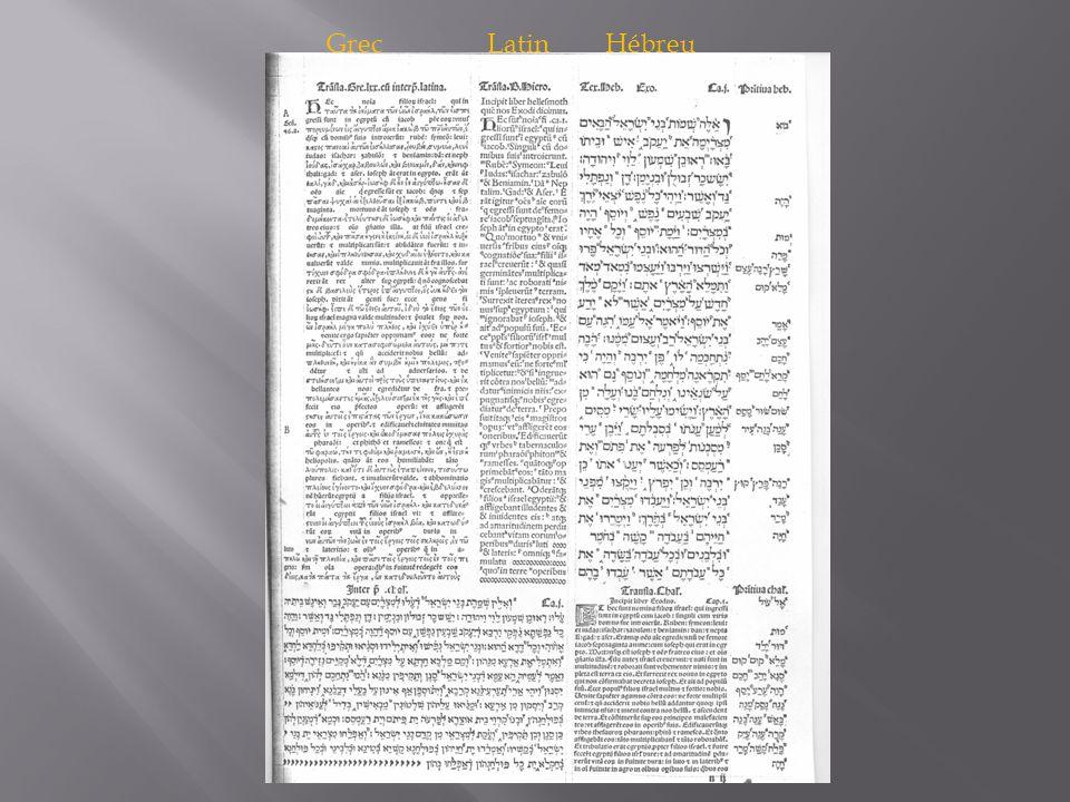 Grec Latin Hébreu