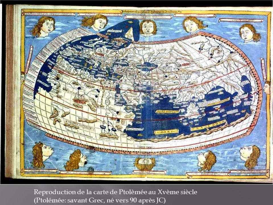 Reproduction de la carte de Ptolèmée au Xvème siècle