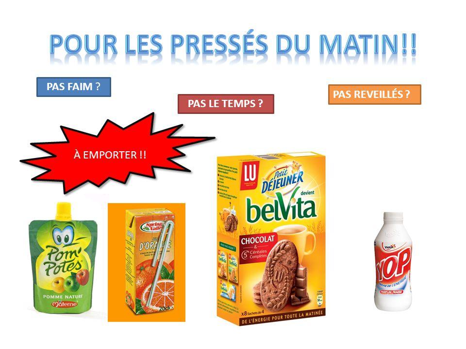 POUR LES PRESSÉS DU MATIN!!