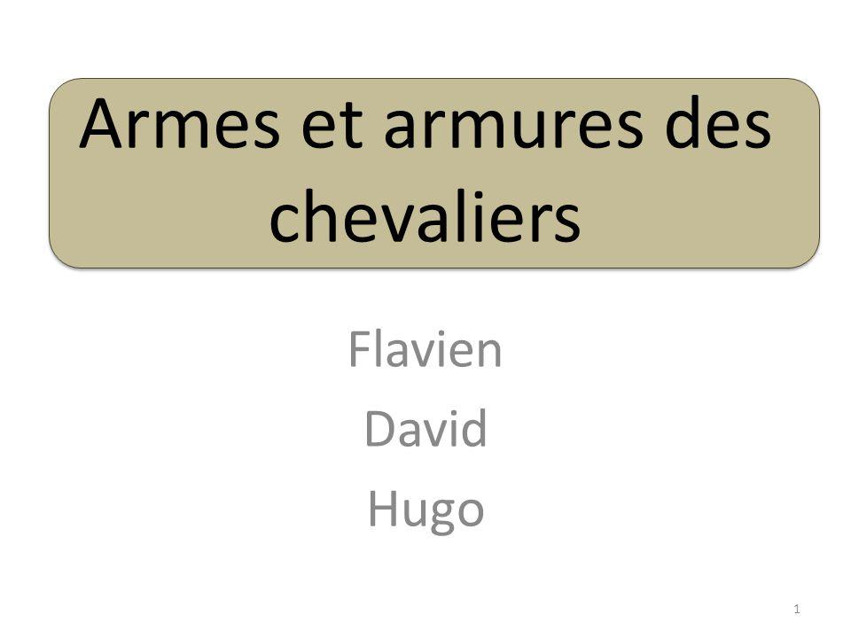 Armes et armures des chevaliers