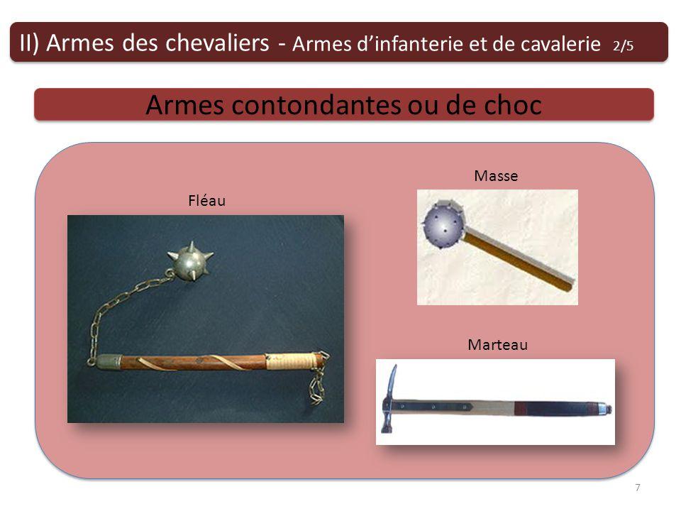 Armes contondantes ou de choc