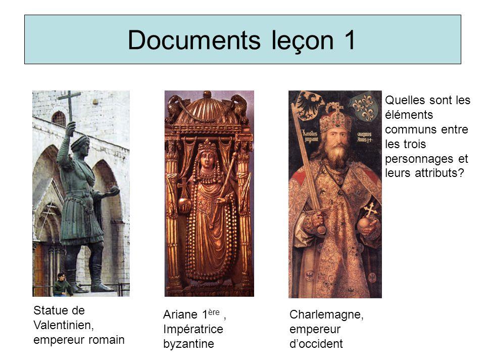 Documents leçon 1 Quelles sont les éléments communs entre les trois personnages et leurs attributs