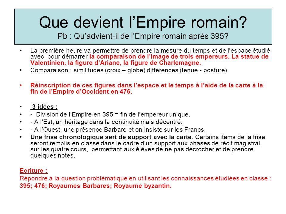 Que devient l'Empire romain
