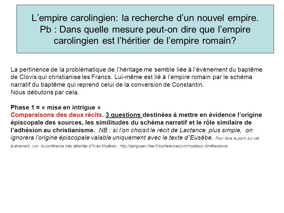 L'empire carolingien: la recherche d'un nouvel empire