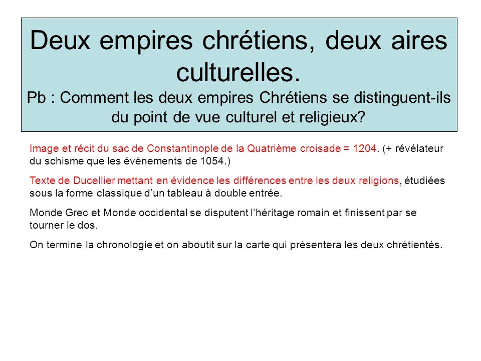 Deux empires chrétiens, deux aires culturelles