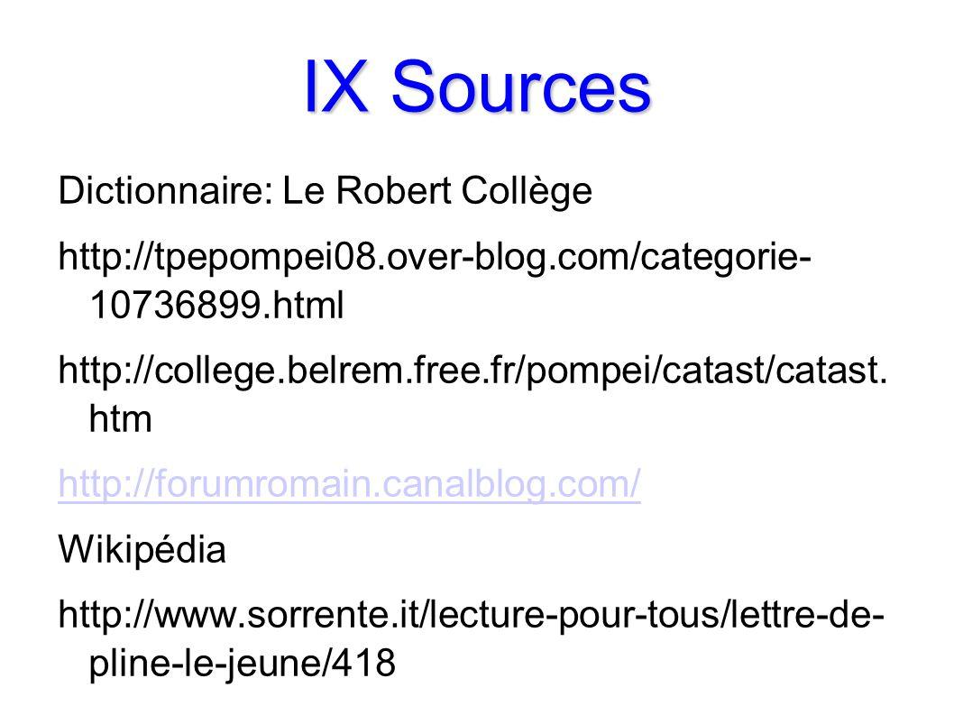 IX Sources Dictionnaire: Le Robert Collège