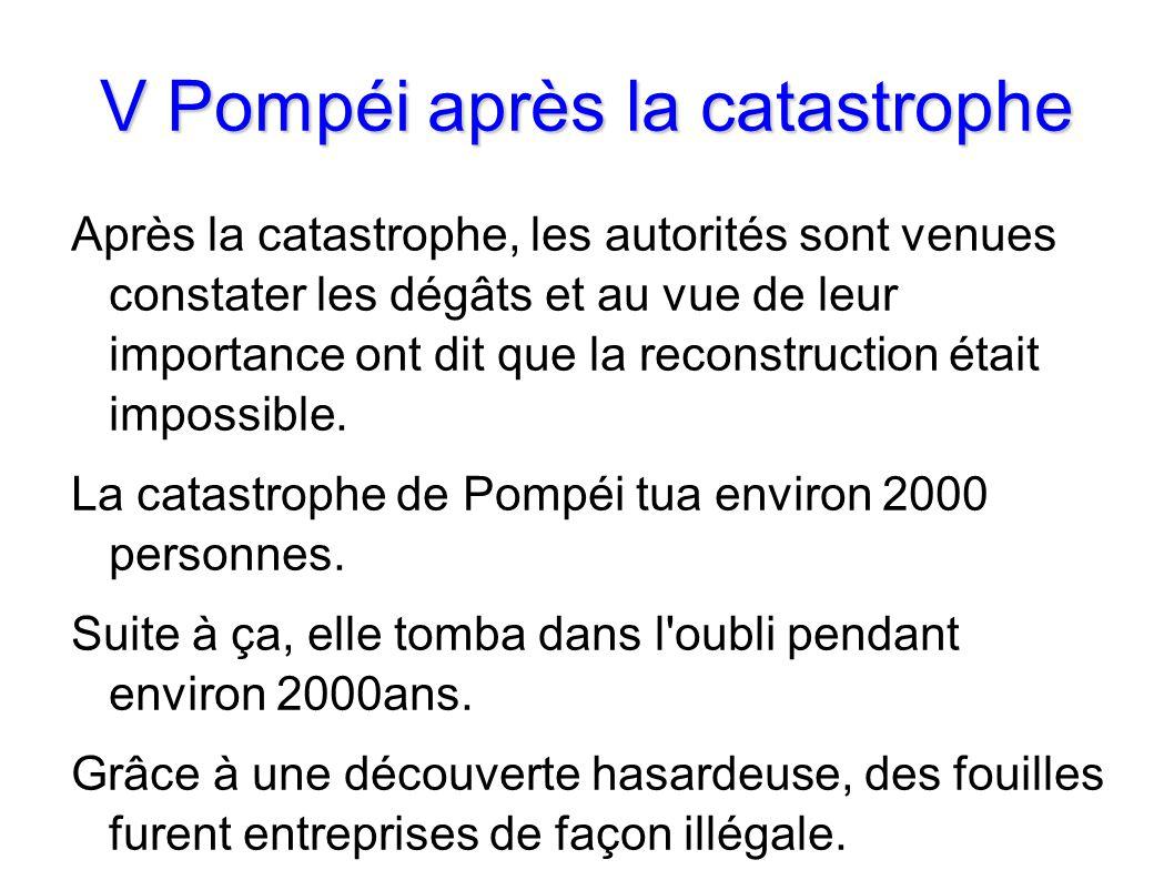 V Pompéi après la catastrophe