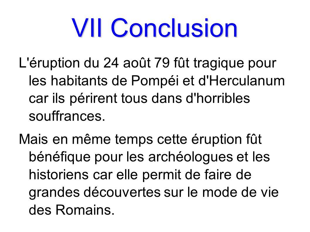 VII Conclusion