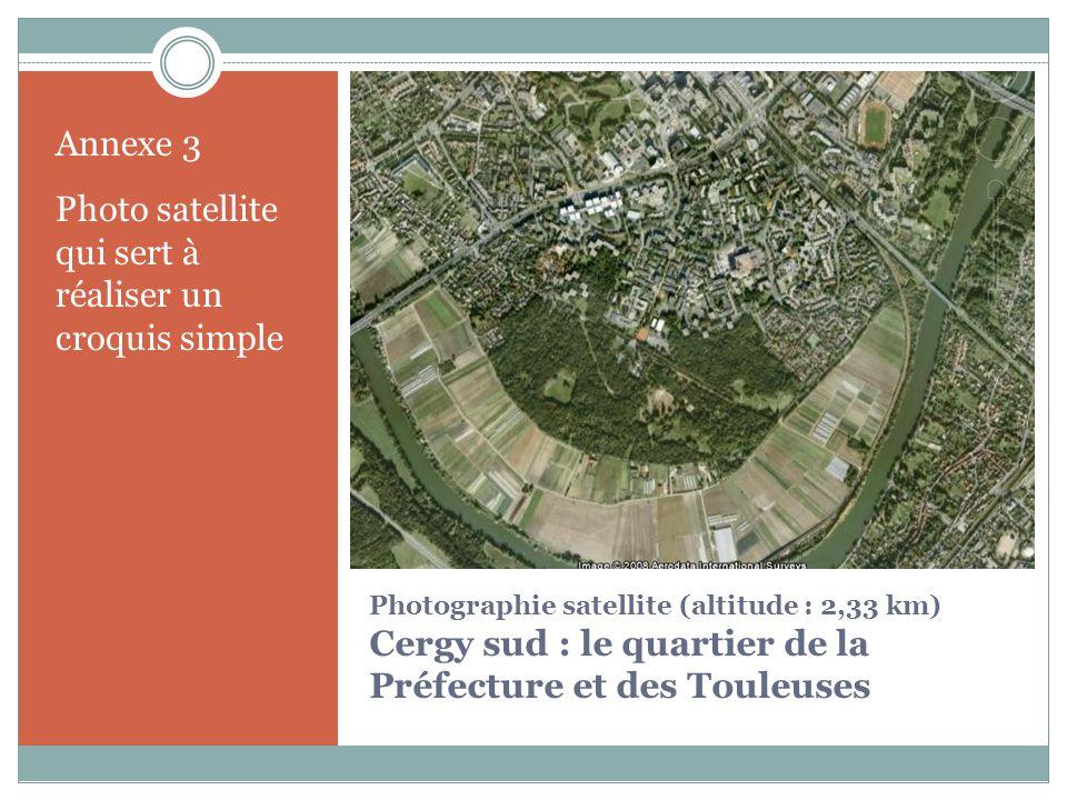 Photo satellite qui sert à réaliser un croquis simple