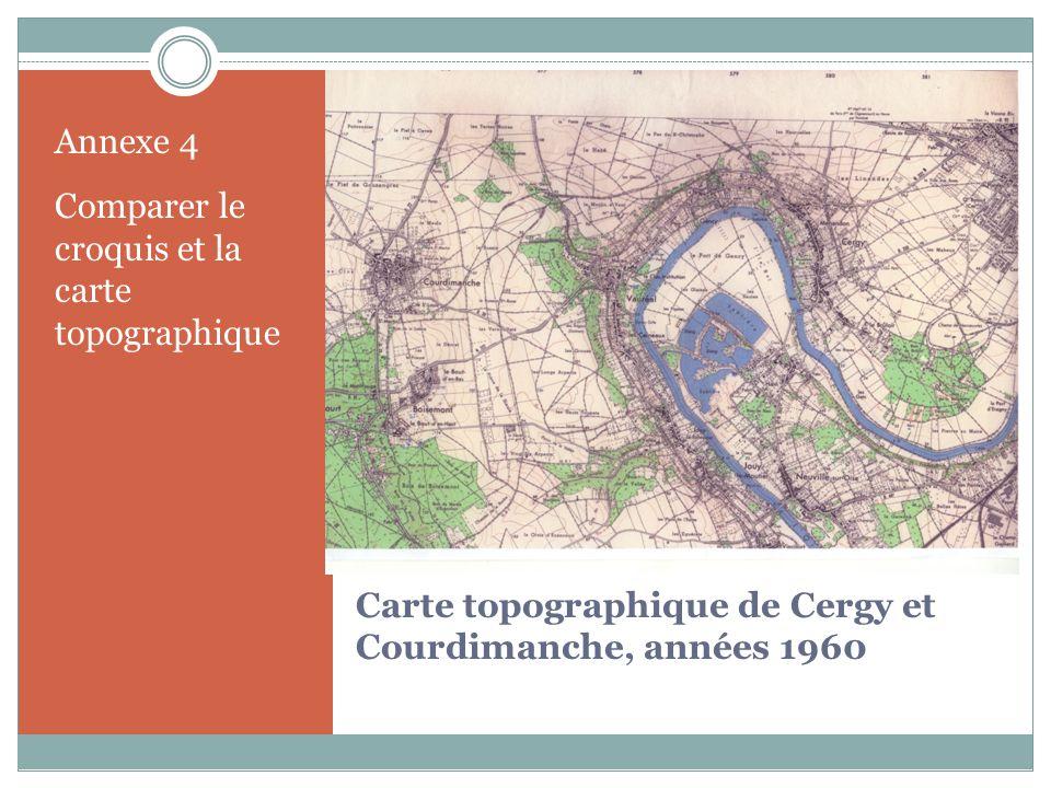 Carte topographique de Cergy et Courdimanche, années 1960