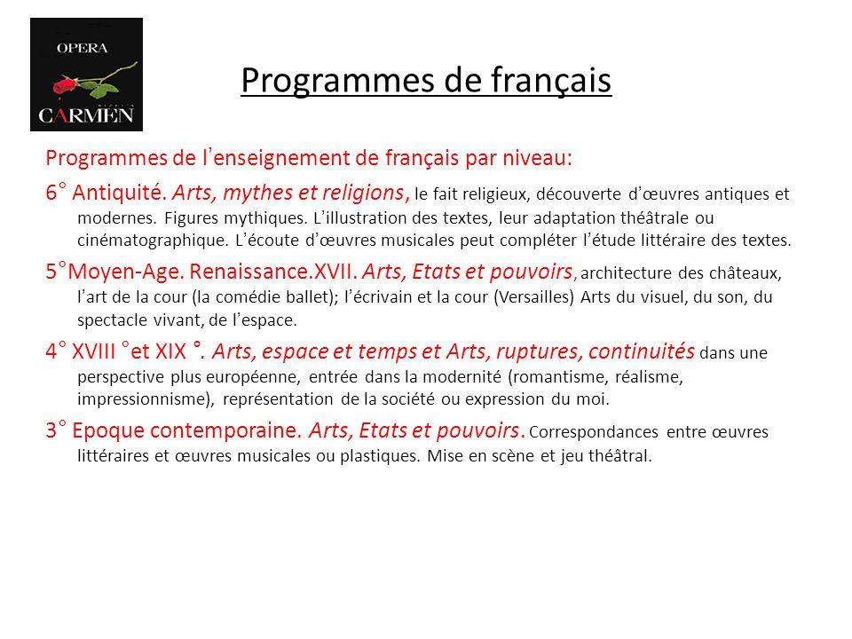 Programmes de français