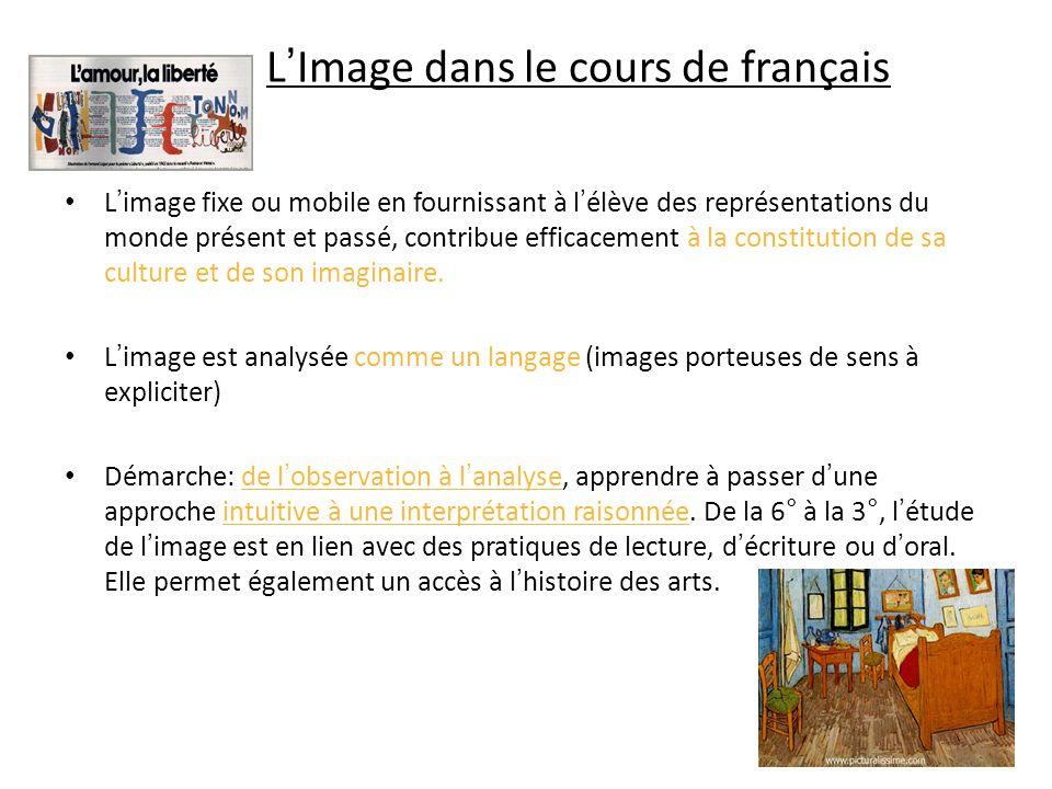 L'Image dans le cours de français