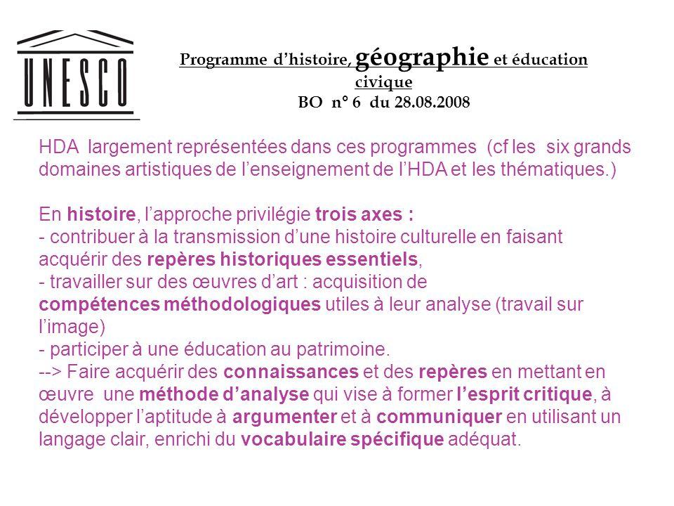Programme d'histoire, géographie et éducation civique