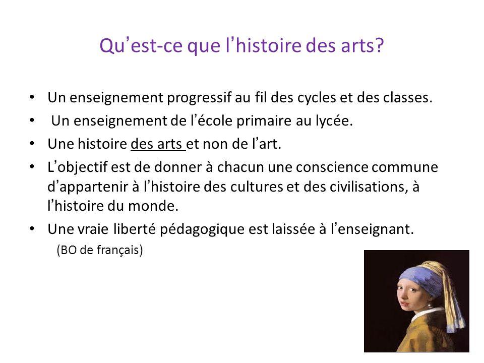 Qu'est-ce que l'histoire des arts