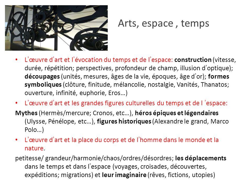 Arts, espace , temps
