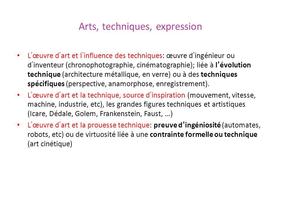 Arts, techniques, expression