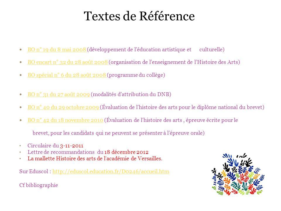 Textes de Référence BO n° 19 du 8 mai 2008 (développement de l'éducation artistique et culturelle)