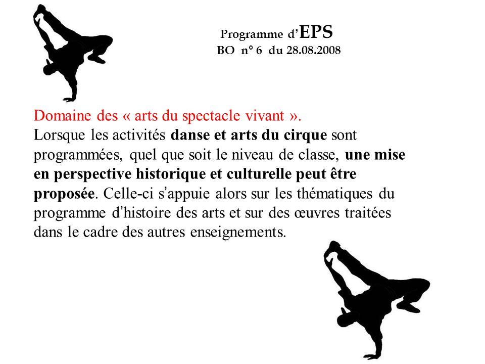 Domaine des « arts du spectacle vivant ».