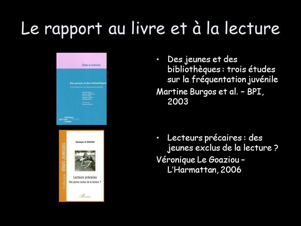 Le rapport au livre et à la lecture