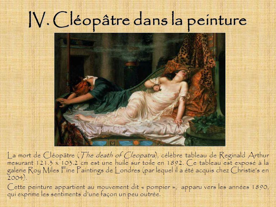 IV. Cléopâtre dans la peinture