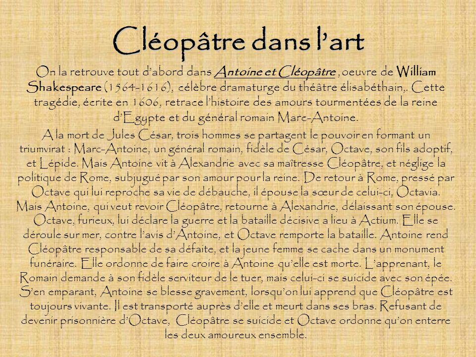 Cléopâtre dans l'art