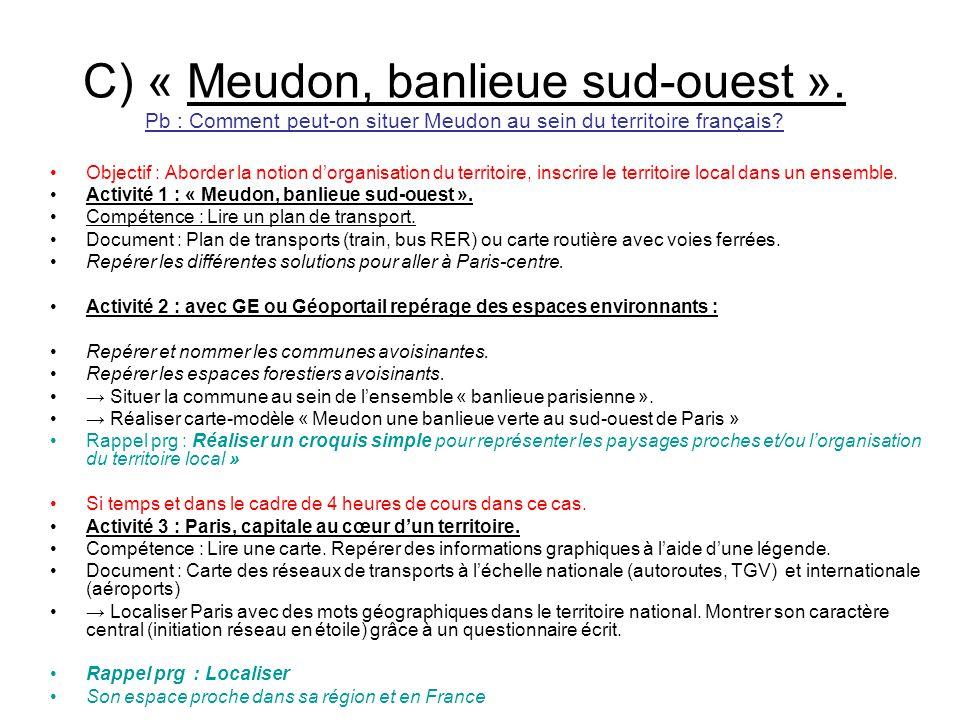 C) « Meudon, banlieue sud-ouest »