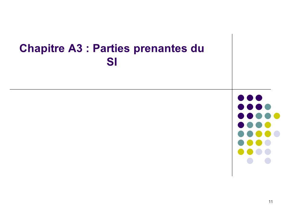 Chapitre A3 : Parties prenantes du SI