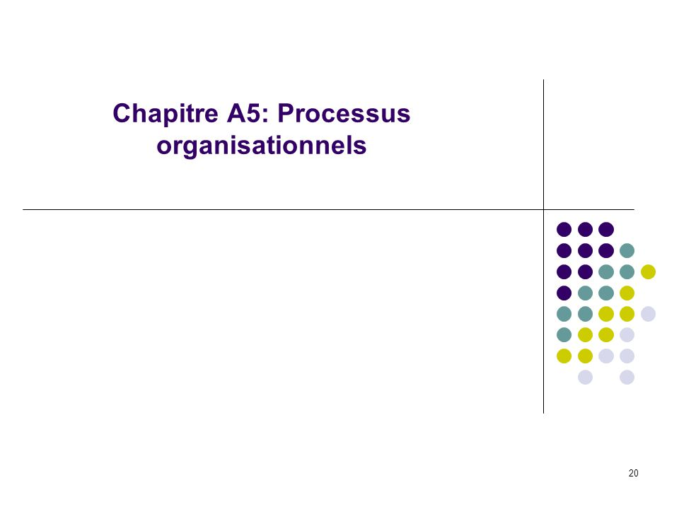 Chapitre A5: Processus organisationnels