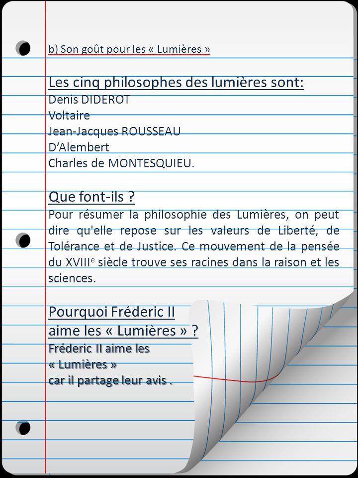 Les cinq philosophes des lumières sont: