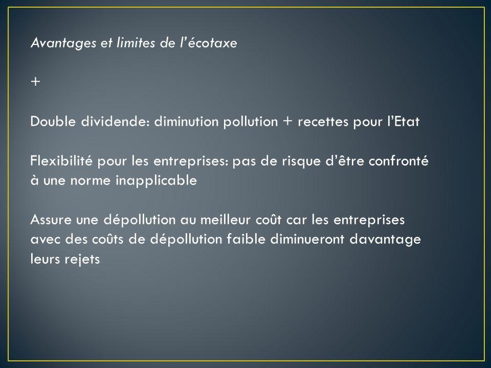 Avantages et limites de l'écotaxe