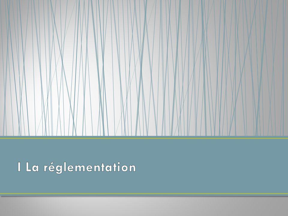 I La réglementation