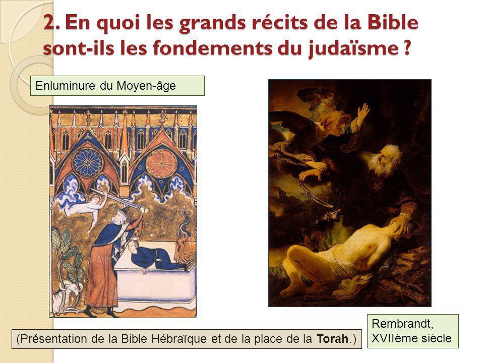 2. En quoi les grands récits de la Bible sont-ils les fondements du judaïsme