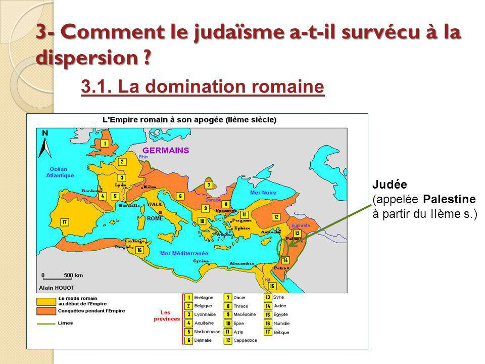 3- Comment le judaïsme a-t-il survécu à la dispersion