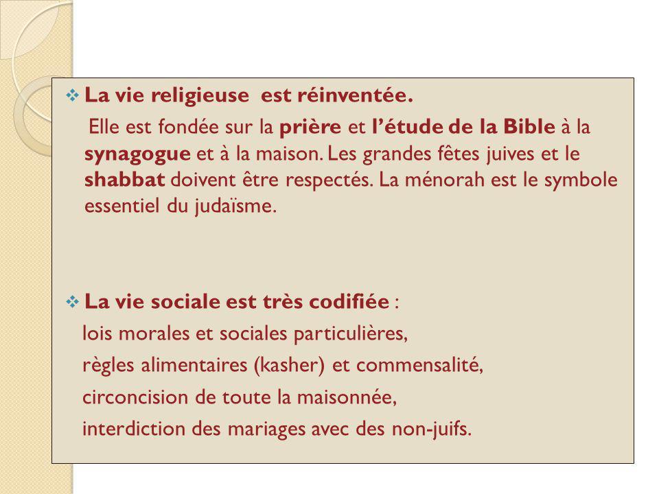La vie religieuse est réinventée.