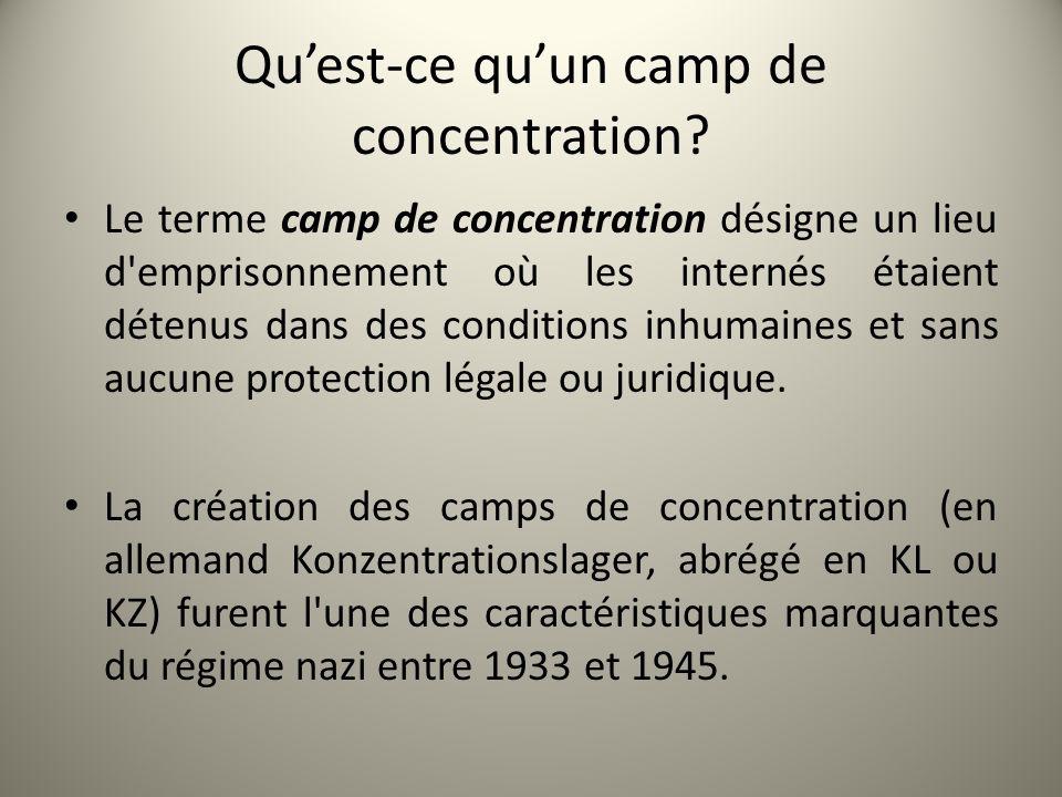 Qu'est-ce qu'un camp de concentration