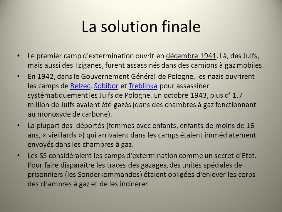 La solution finale
