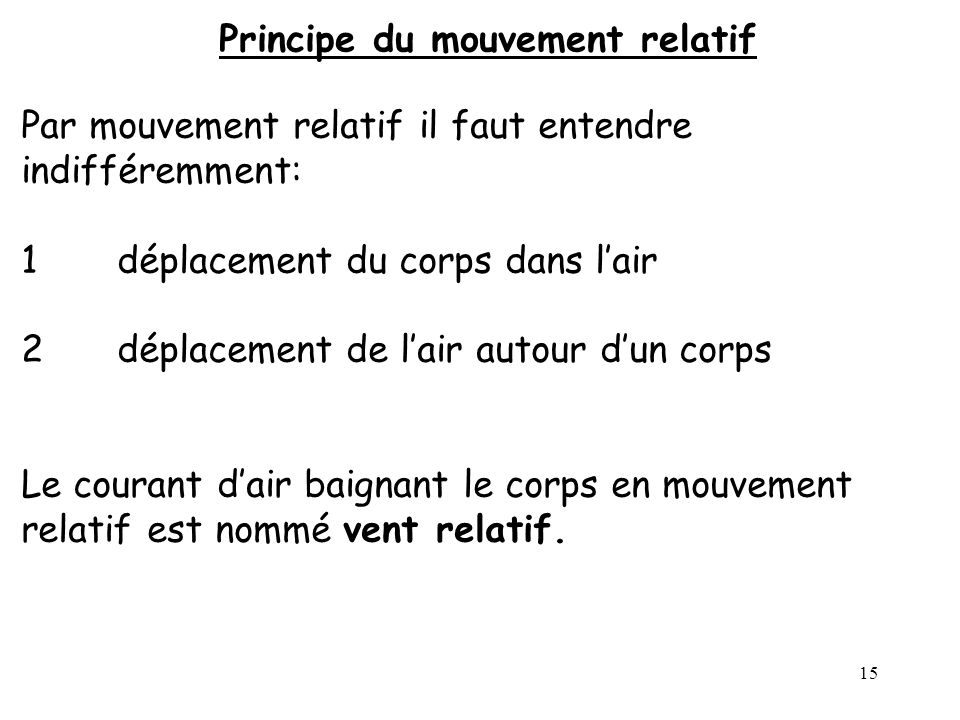 Principe du mouvement relatif