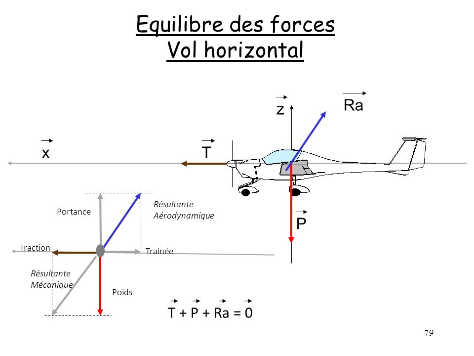 Equilibre des forces Vol horizontal
