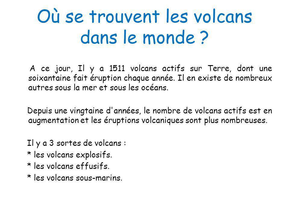 Où se trouvent les volcans dans le monde