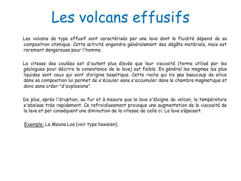 Les volcans effusifs