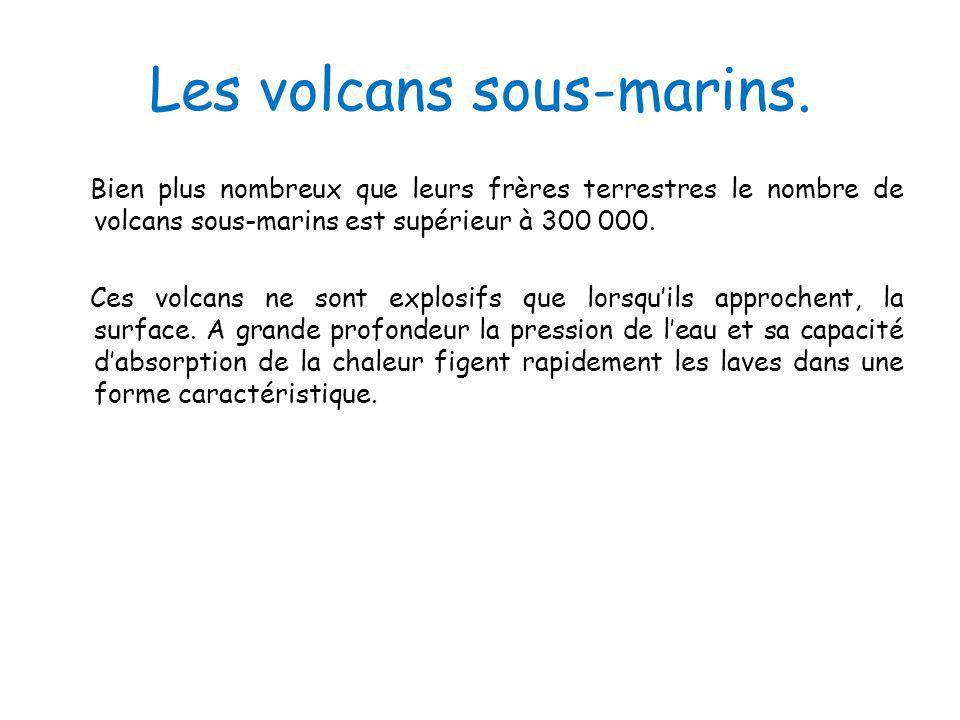 Les volcans sous-marins.