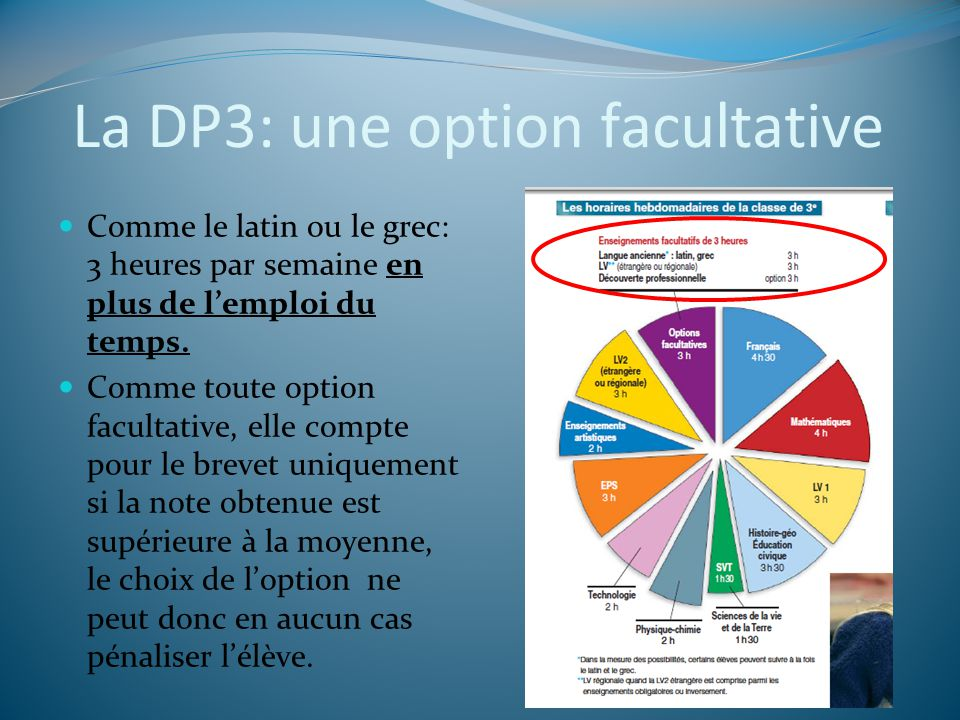 La DP3: une option facultative