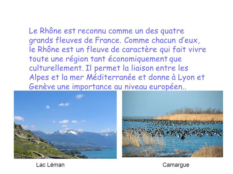 Le Rhône est reconnu comme un des quatre grands fleuves de France