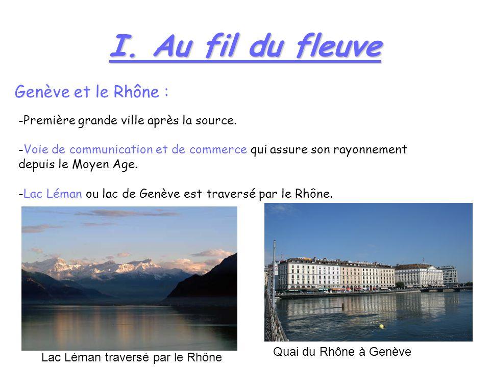 I. Au fil du fleuve Genève et le Rhône :