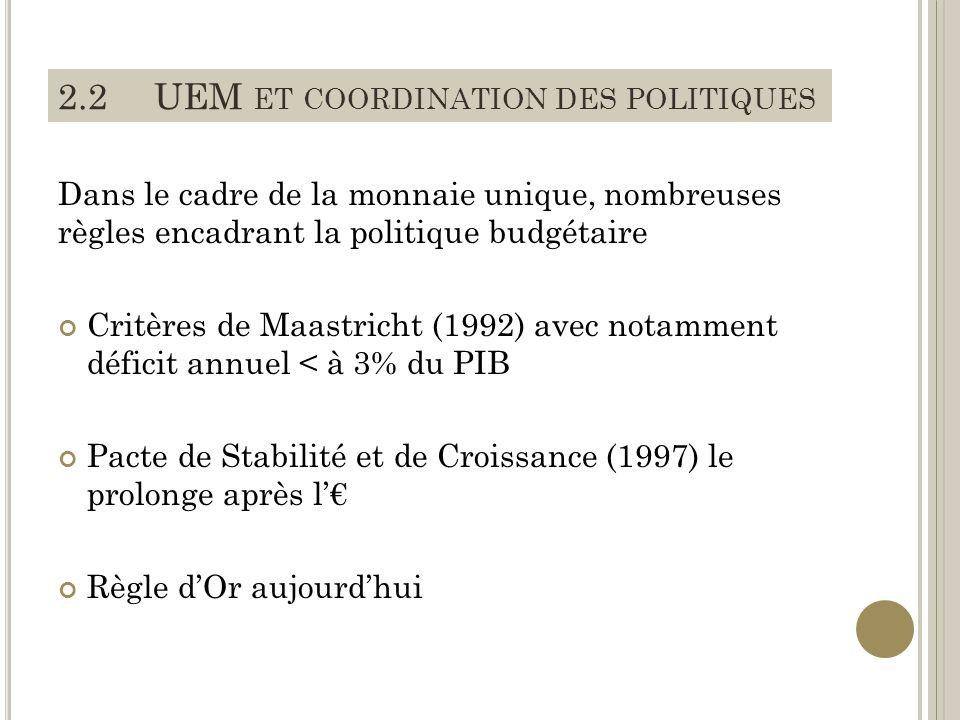 2.2 UEM et coordination des politiques