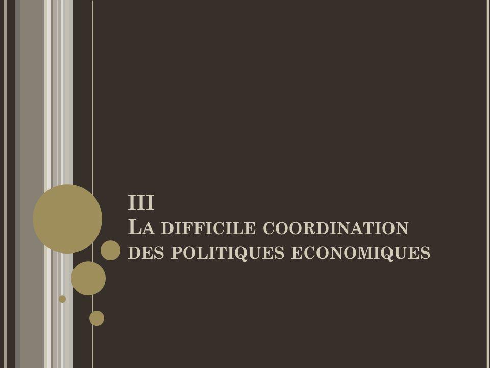 III La difficile coordination des politiques economiques