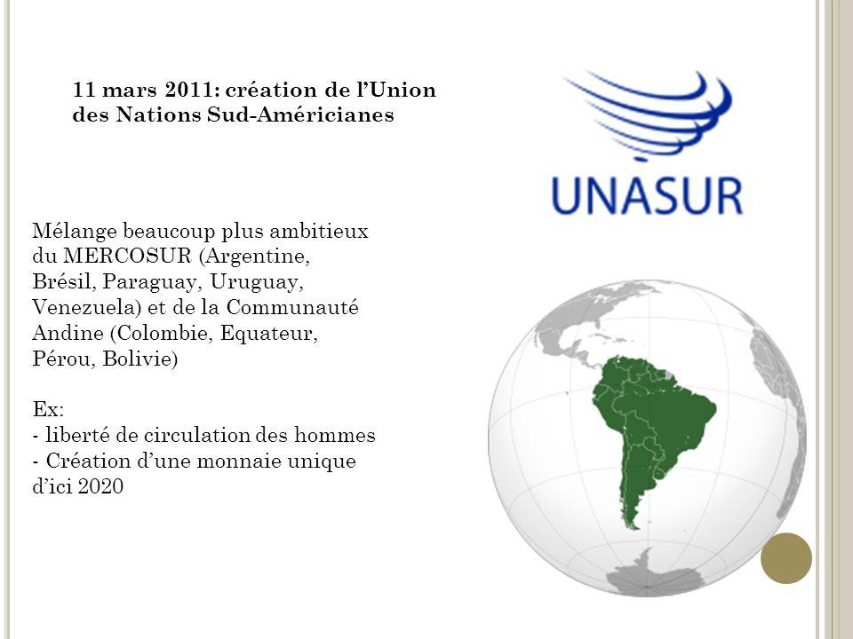11 mars 2011: création de l'Union des Nations Sud-Américianes